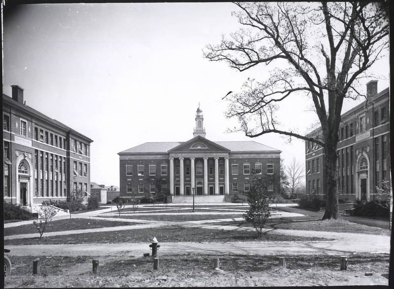 Saunders Hall (now Carolina Hall), Manning Hall, and Murphey Hall (left to right), 1920s