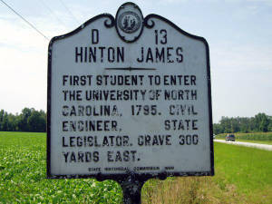 Hinton James Historical Marker