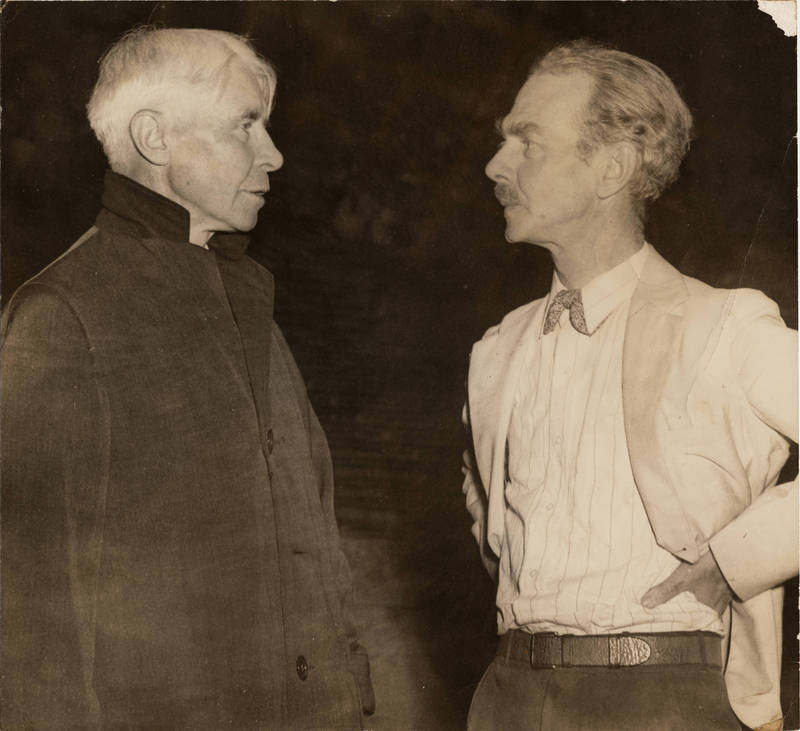 Charles Phillips Russell (1884-1974) (right) with Carl Sandburg