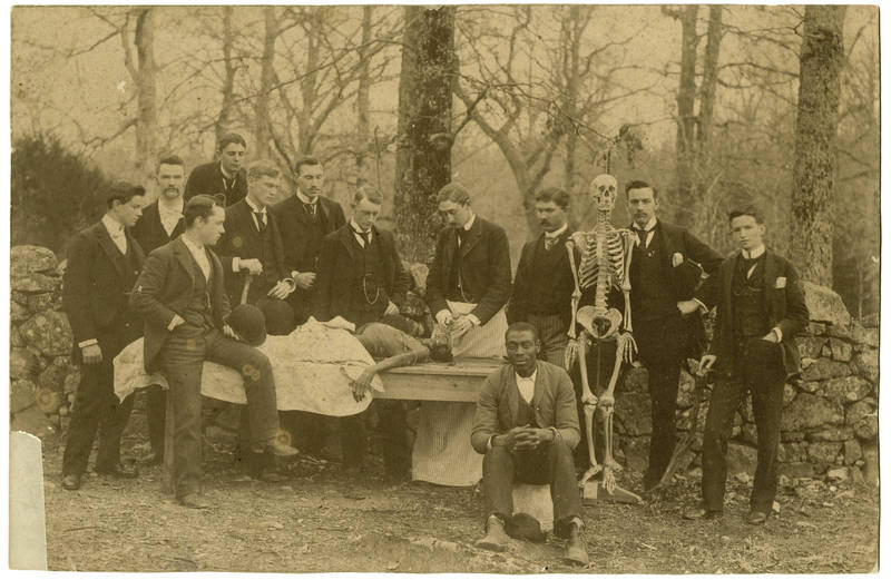 Dr. Richard H. Whitehead (1865-1916) (in apron) and anatomy class