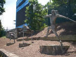 Belk Track Statues: The Javelin Thrower, The Hurdler, The Finish Line