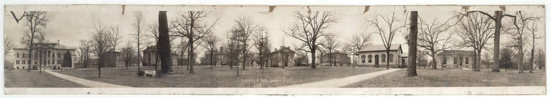 Campus view: Panorama overview (McCorkle Place), 1919
