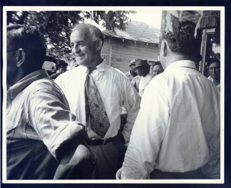 Frank Porter Graham (1886-1972) (center) photographed by Allard Lowenstein