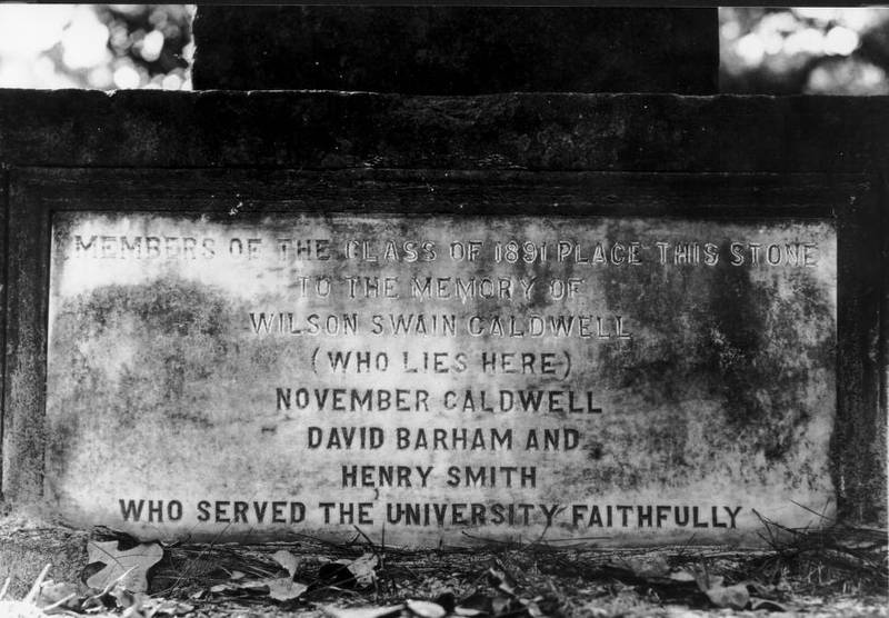 Grave marker for college servants in Old Chapel Hill Cemetery