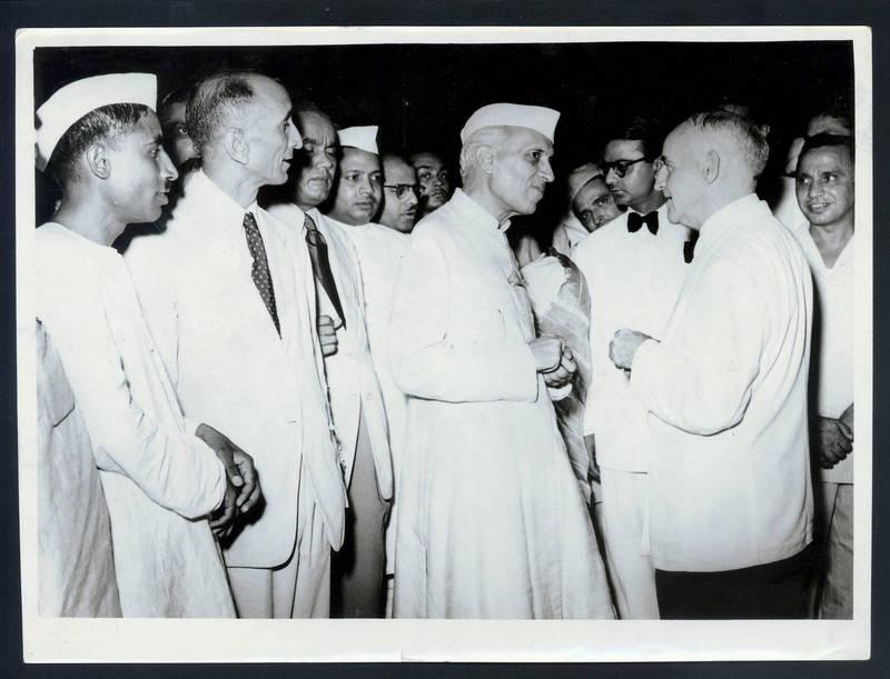 Frank Porter Graham with Jawaharlal Nehru