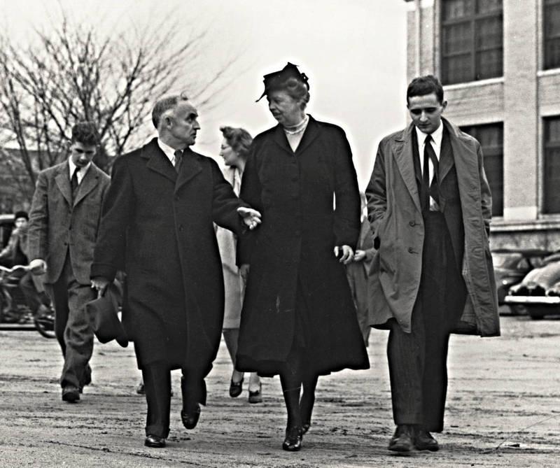 Frank Porter Graham and Eleanor Roosevelt