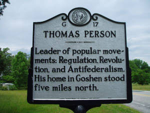 Thomas Person (1733-1800) Historical Marker