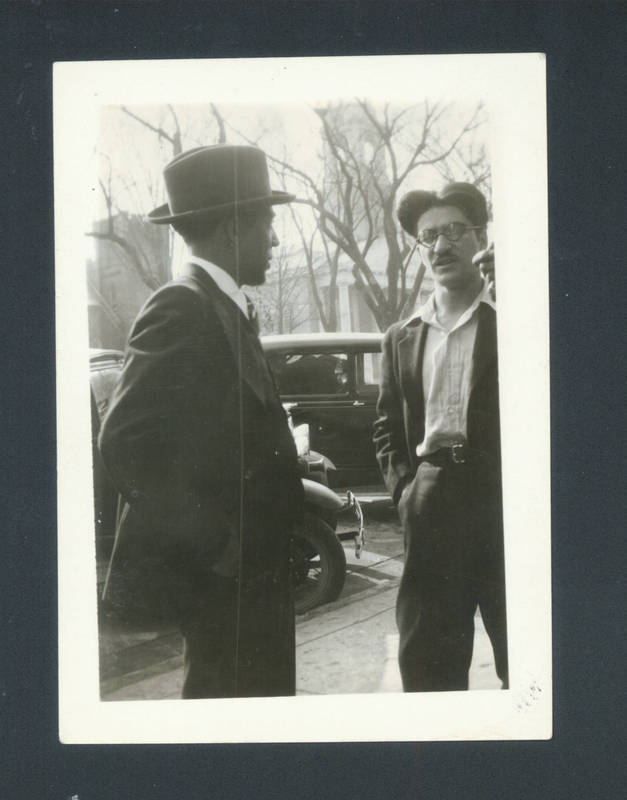 Langston Hughes and local bookstore owner Tony Buttitta, Chapel Hill, 1932