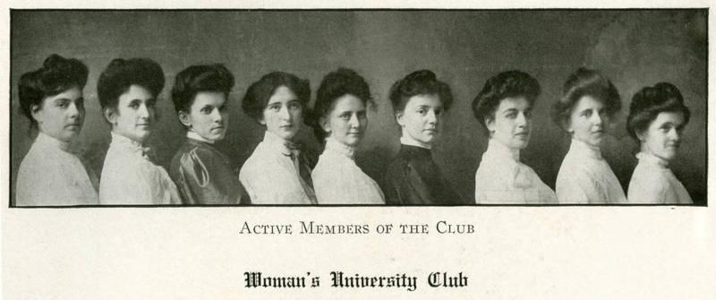 UNC Women's University Club, 1906. From https://museum.unc.edu/exhibits/show/coeducation/item/1158