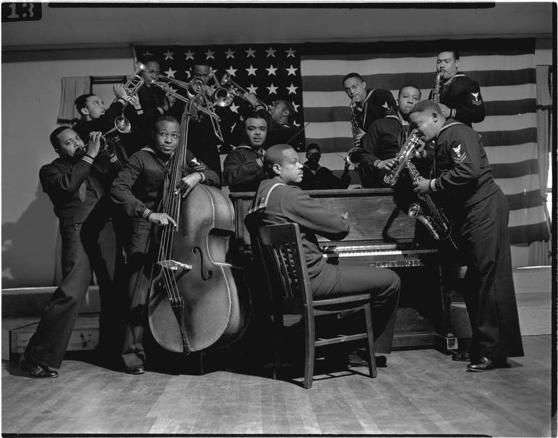 B-1 Band, African American Navy Band assigned to Chapel Hill, 1942-1945