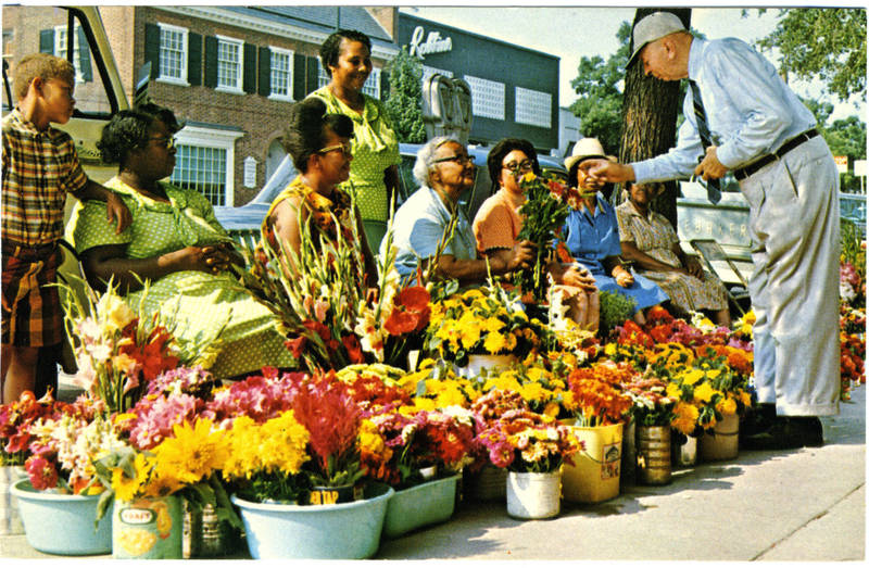 The Franklin Street Flower Ladies and Chancellor Robert House, ca. 1969