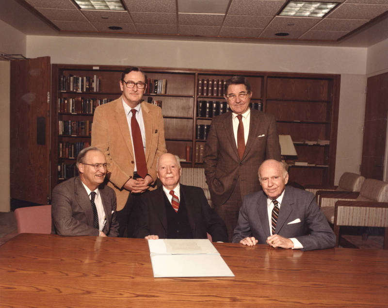 J. Harold Lineberger and Joseph Lineberger (seated center, right)