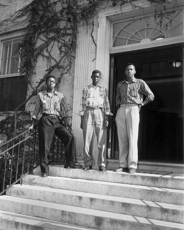 Image of black students at UNC-Chapel Hill. From the Virtual Museum of University History at UNC-Chapel Hill.