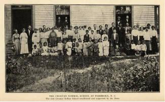 The Croatan Normal School, Pembroke, N.C., 1916.