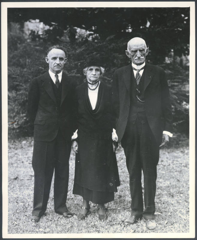 Frank Porter Graham with his parents