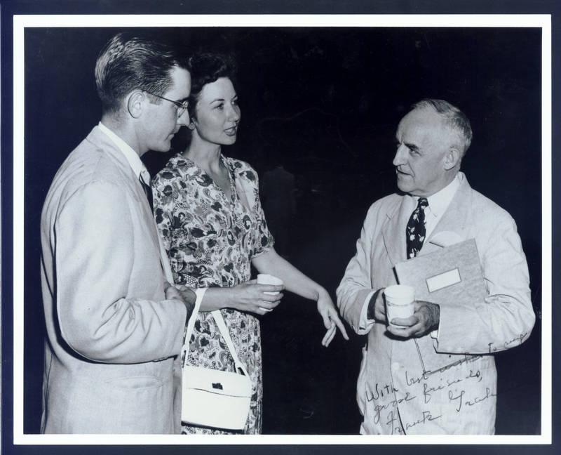 William C. Friday (1920- ), Ida Friday, and Frank Porter Graham (left to right)