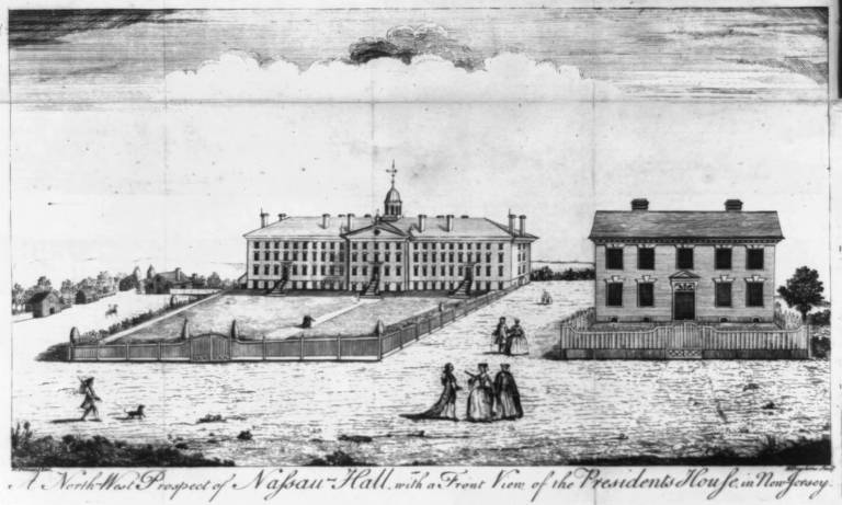 View of the College of New Jersey, 1764