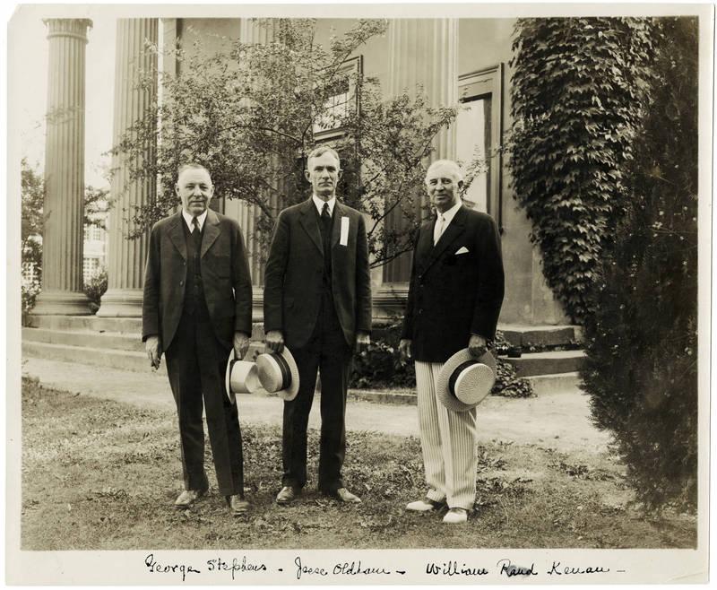 George Stevens, Jesse Oldham, and William Rand Kenan, Jr. (1872-1965)