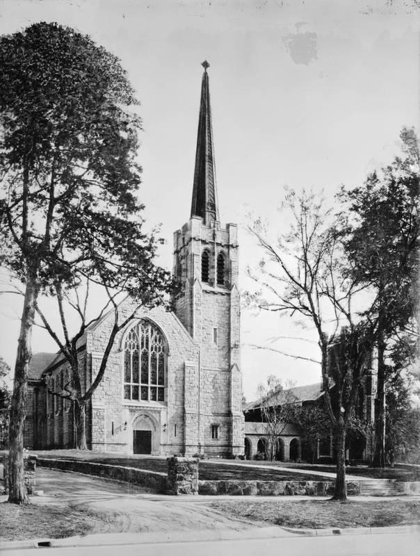 Chapel of the Cross, Chapel Hill, North Carolina on Franklin Street, adjacent to the university campus