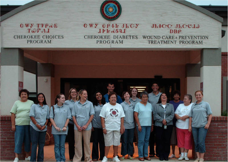 Interns and volunteers from the Native Health Initiative in Cherokee, N.C.