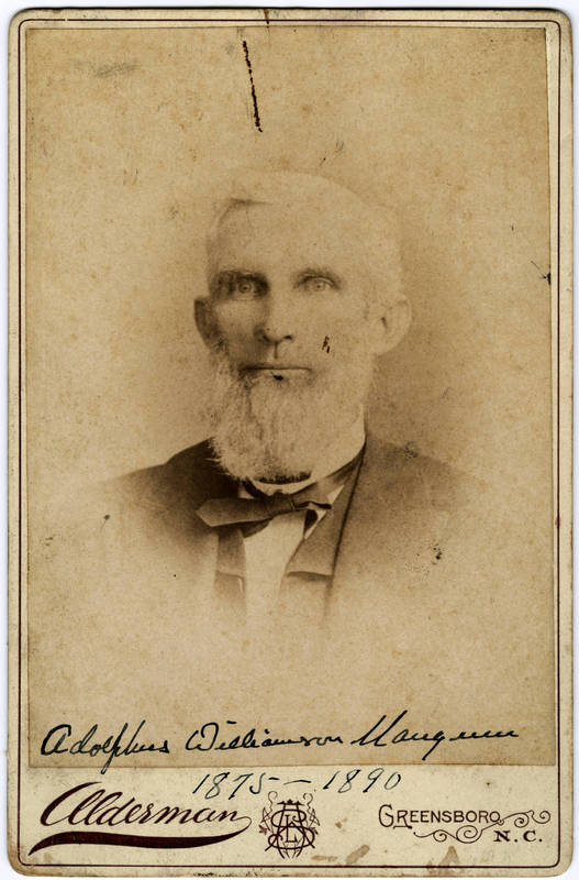 Adolphus Williamson Mangum (1834-1890)