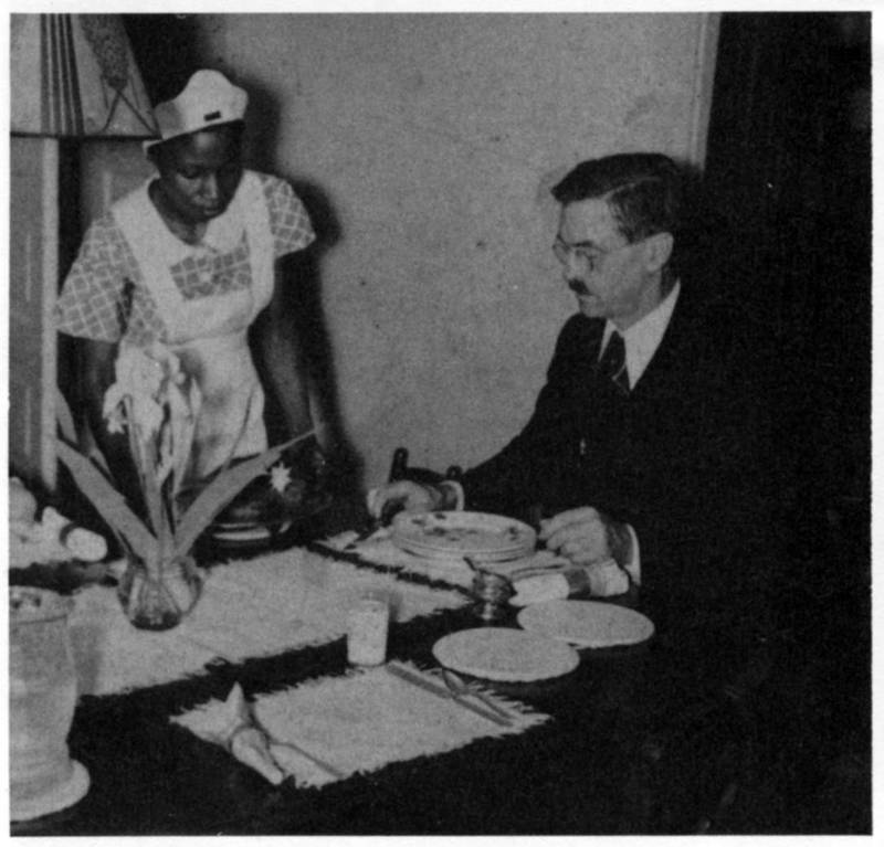 Wallace Caldwell (1890-1961) (right) and unnamed domestic