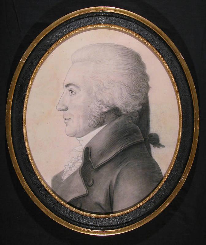 William Richardson Davie (1756-1820), miniature engraving by Gilles-Louis Chr
