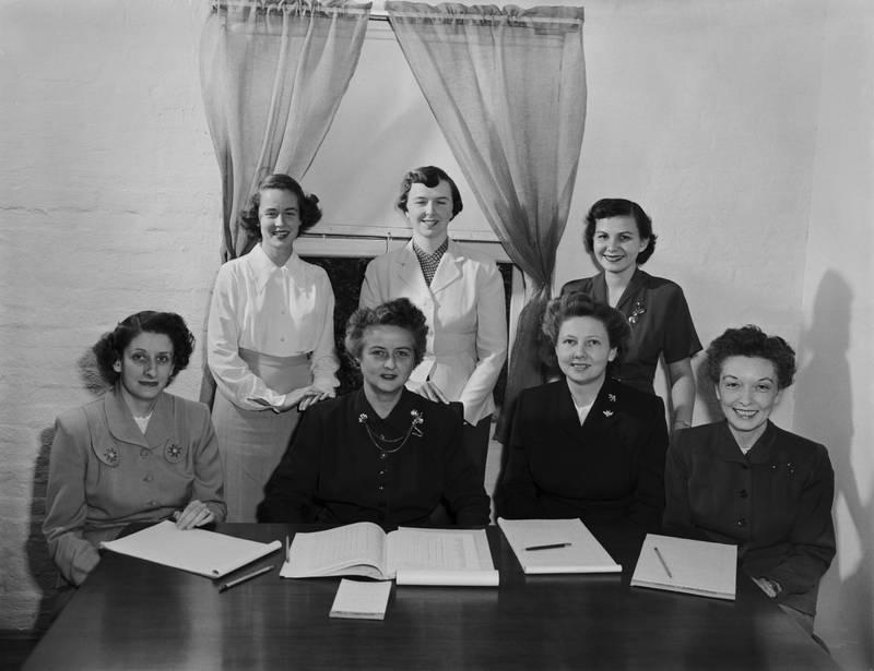 Dean Elizabeth Kemble and School of Nursing faculty, 1950s