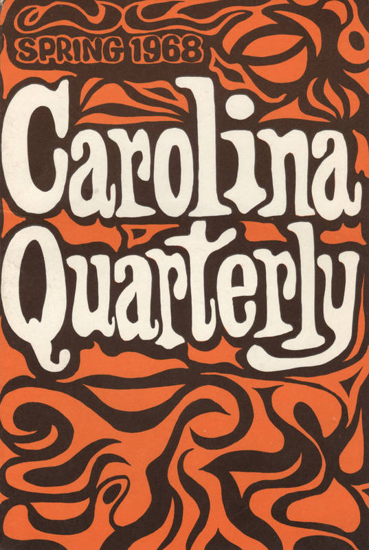 """Cover of the """"Carolina Quarterly"""", Spring 1968"""