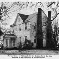 William R. Davie's residence in Halifax, North Carolina
